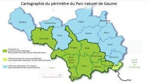 Carte du Parc naturel de Gaume (afficher en grand)