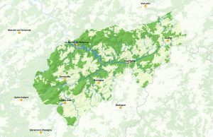 Carte du Parc naturel des deux Ourthes (afficher en grand)