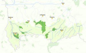 Carte du Parc naturel des Hauts-Pays (afficher en grand)