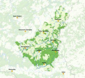 Carte du Parc naturel Haute-Sûre Forêt d'Anlier (afficher en grand)