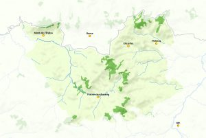 Carte du Parc naturel du Pays des Collines (afficher en grand)